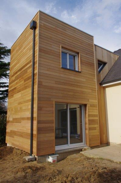 Maison bois extension amiens beauvais mbe agrandissement for Extension en bois