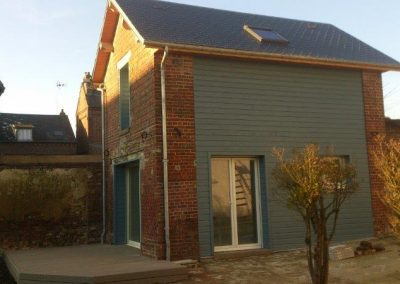 Rénovation d'une grange en habitation avec étage